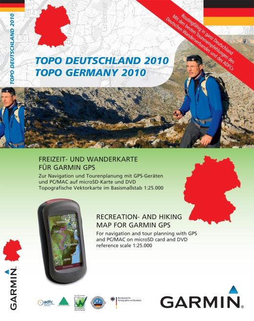 Garmin Topo Deutschland 2010 Neue topographische Vektorkarte