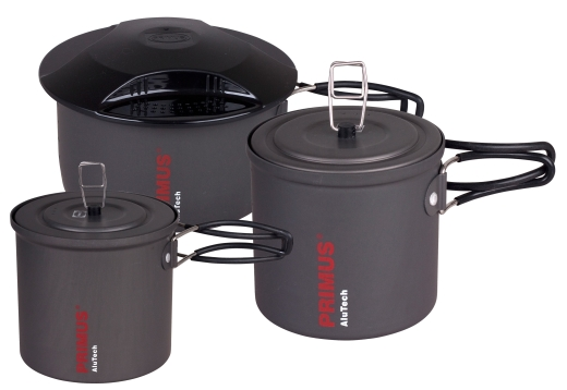 PRIMUS AluTech Pots - Neue, leichte Alu-Kochtöpfe in drei Größen