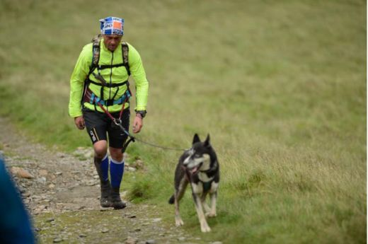 MONTANE® Lakeland 100 competitor Jonathan Fletcher with Otto.- Fotocredit: © Martin Hartley.