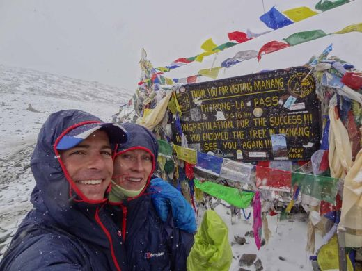 Philippe and Anna on the Thorong La Pass - Fotocredit: Berghaus